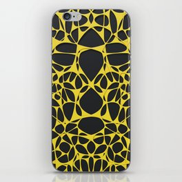Yellow on black, organic abstraction iPhone Skin