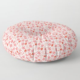 Jumping Starfish, in pink Floor Pillow