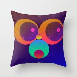 Monkey Planets (1/2) Throw Pillow