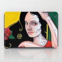 dia de los muertos iPad Cases featuring Dia de los Muertos by whiterabbitart