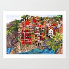 Manarola, Italy  Art Print