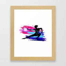Martial arts, karate, yoga, aikido, judo, athlete Framed Art Print