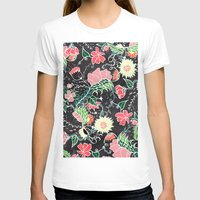 preppy T-shirts featuring Pastel preppy hand drawn garden flowers chalkboard by Girly Trend