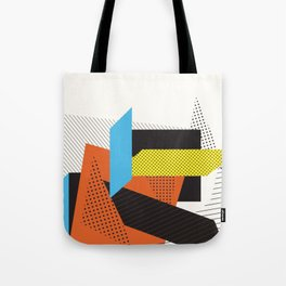 Memphis Throwback Retro 1980s 80s Trendy Hipster Bright Shapes Pattern Eighties Tote Bag