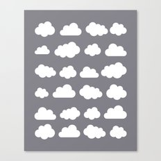 Grey clouds on grey winter skies Canvas Print