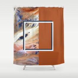 Split Perspective - Abstract Geometric Design Shower Curtain