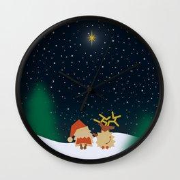 Nicolas&Rudolph (Star) Wall Clock
