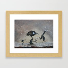 Sky watchers Framed Art Print