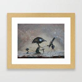 Sky watchers Framed Art Print