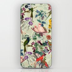 Floral and Birds VIII iPhone Skin