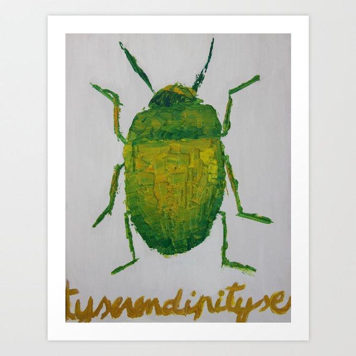 JUNG'S BEETLE Art Print