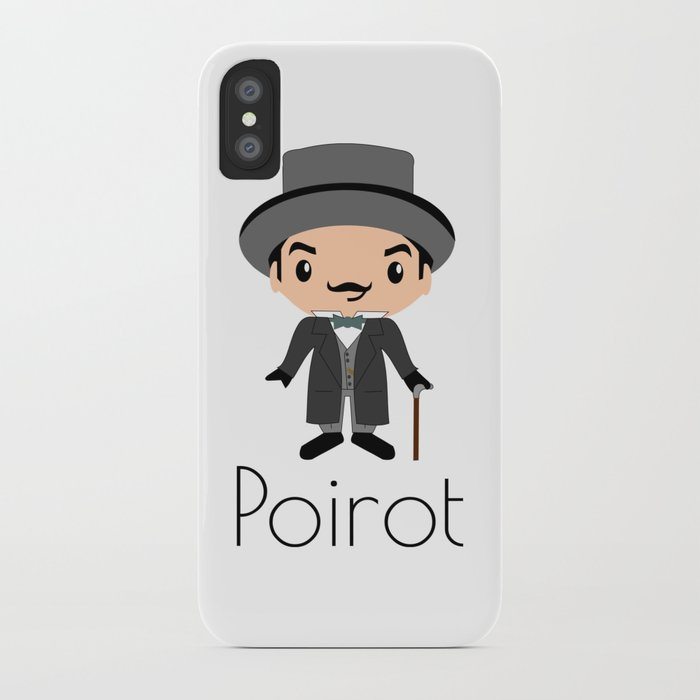 newest 707aa 740fe Hercule Poirot   Agatha Christie iPhone Case by beyondthepages19