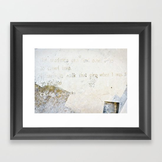Writing on the Wall [2] Framed Art Print