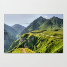 Mountains, green, gigantic, steep and rolling Canvas Print