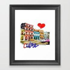 I  love Cuba Framed Art Print