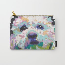 maltese poodle Maltipoo Dog Portrait Pop Art painting by Lea Carry-All Pouch