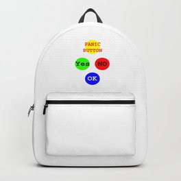 Yes No Buttons jGibney The MUSEUM Society Gifts Backpack