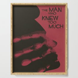 The Man who Knew Too Much, Alfred Hitchcock, minimal movie poster, alternative film playbill, cinema Serving Tray
