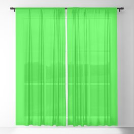 SOLID PLAIN UFO GREEN  WORLDWIDE TRENDING COLOR / COLOUR Sheer Curtain