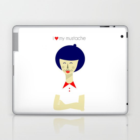 I love my Mustache Laptop & iPad Skin