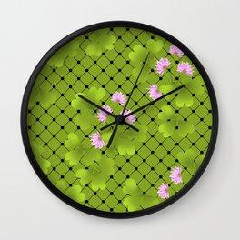 Field clover 2 Wall Clock