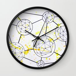 Geometric Connections Wall Clock