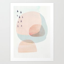04 a4 society6 peach higher res Art Print
