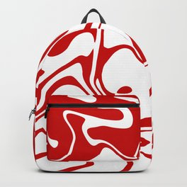 Holiday Red Liquid Marble Effect Pattern Backpack