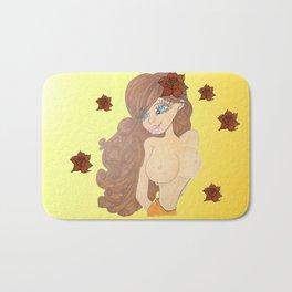 brunette beauty Bath Mat