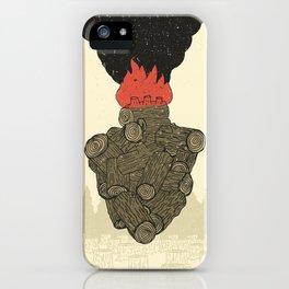 Endure Burning - Viktor Frankl Quote - wood heart iPhone Case