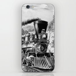 The Express Train Currier & Ives 1870 iPhone Skin