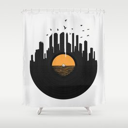 Vinyl City Shower Curtain