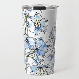 Blue Delphinium Flowers Travel Mug