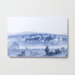 Lake Champlain 1850 (Cyan Blue) Metal Print