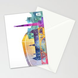 Luxembourg landmarks watercolor poster Stationery Cards