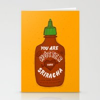 sriracha Stationery Cards featuring Sriracha Valentine by Leah Doguet