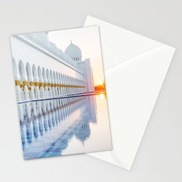 Abu Dhabi Sunset Stationery Cards