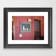 wall painting Framed Art Print