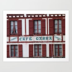 Basque Café Art Print
