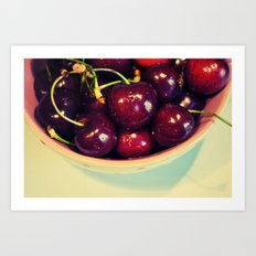 Cherry Blues II Art Print