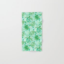 TURTLE FLOAT Watercolor Hand & Bath Towel