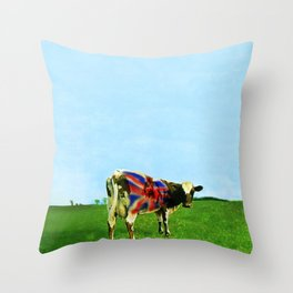 Atom Cow Throw Pillow