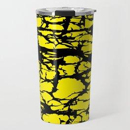 Yellow and Black Interlace Travel Mug