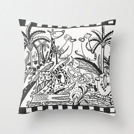 It's a jungle Throw Pillow