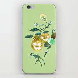 Pansy Decal Green & Gold iPhone Skin