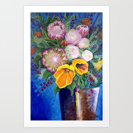 A Vase of Flowers Can Be a Willful Act of Resistance Art Print