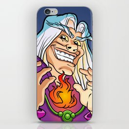 old Wizard casting a spell iPhone Skin