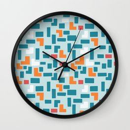 Bricks - dark Wall Clock