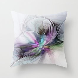 New Life, Abstract Fractals Art Throw Pillow