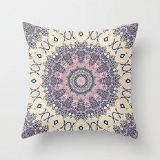 No. 20 Wisteria Arbor Way Regal Purple & Ivory Hugs and Kisses Mandala Throw Pillow